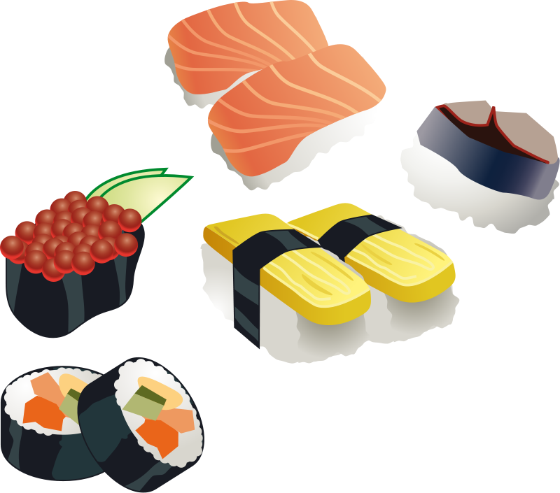 Free clipart sushi vector black and white stock 89+ Sushi Clip Art | ClipartLook vector black and white stock
