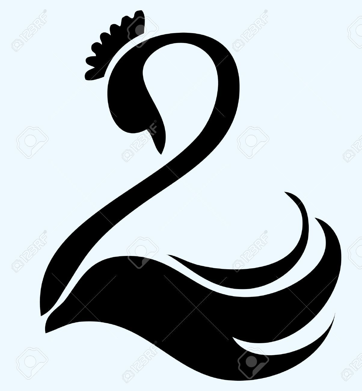 Swan lake black and white free clipart clip art free stock Swan Stock Vector Illustration And Royalty Free Swan Clipart | swan ... clip art free stock