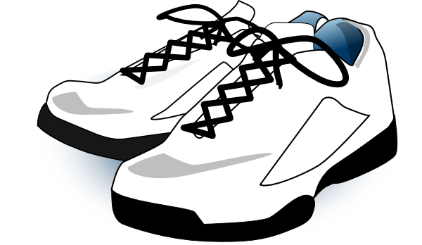 Free clipart tennis shoes. Black and white panda