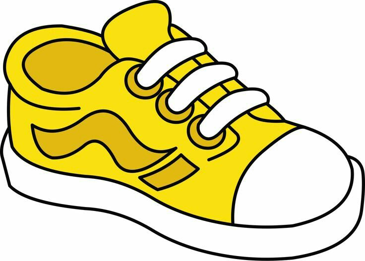 Shoe yellow cliparts download. Free clipart tennis shoes