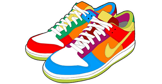 Free clipart tennis shoes.  clip art clipartlook