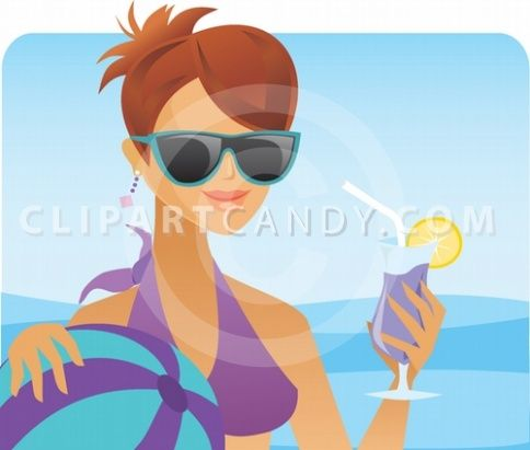 Free clipart tgif image library Happy Friday! TGIF with Clipart of Happy vector woman in pool with ... image library