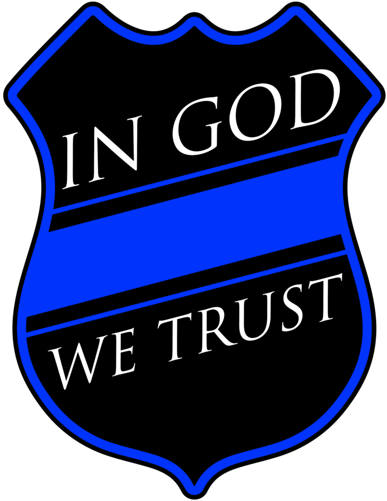 Free clipart thin blue line cross clip art royalty free download In God We Trust Sticker | Free shipping, Lifestyle and Ships clip art royalty free download