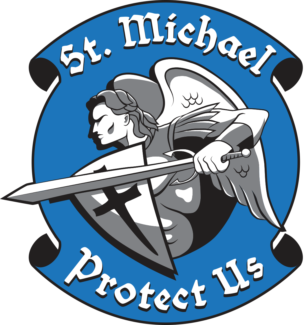 Free clipart thin blue line cross black and white library St Michael Sticker | Pinterest | Law enforcement officer ... black and white library