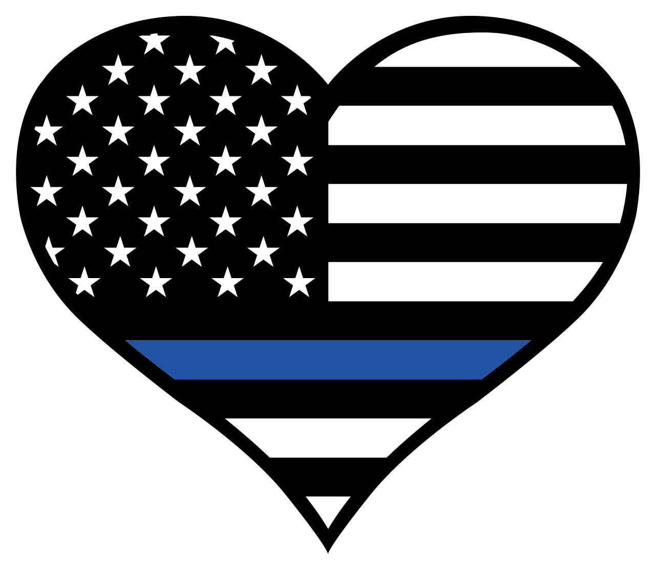 Free clipart thin blue line cross graphic stock Thin Blue Line Heart Sticker | Pinterest | Symbols, Free shipping ... graphic stock