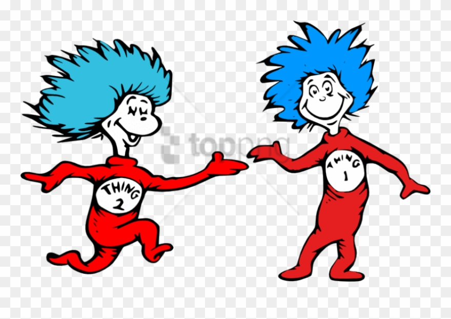 Free clipart thing 1 and thing 2 picture transparent Free Png - Dr Seuss Thing 1 And Thing 2 Clipart (#4120457) - PinClipart picture transparent