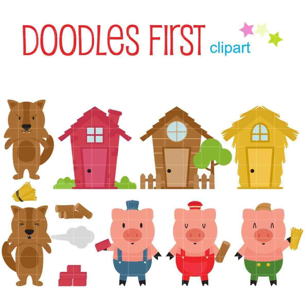 Free clipart three little pigs. The puppet templates tamplate