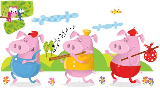 Free clipart three little pigs.  clipartlook