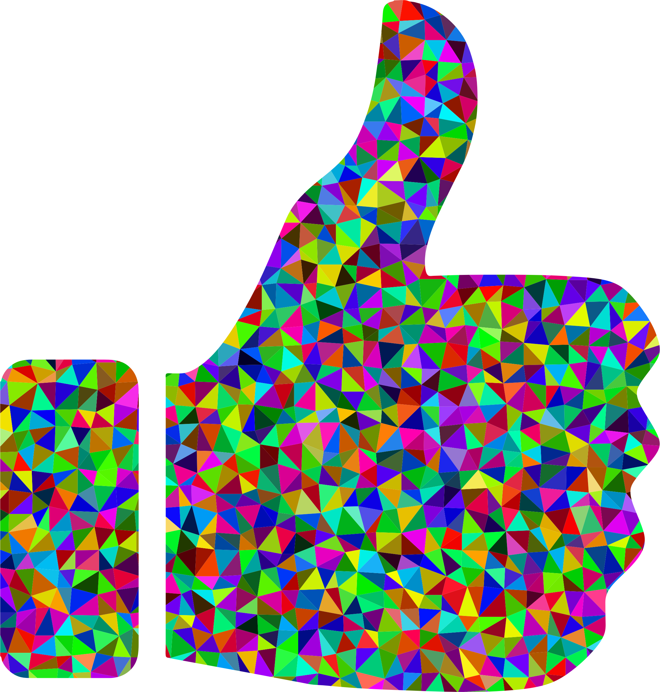 Thumbs up thumbs down clipart vector transparent Prismatic Low Poly Thumbs Up Icons PNG - Free PNG and Icons Downloads vector transparent