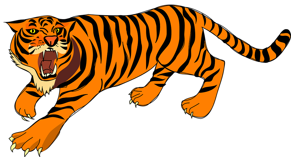 Free clipart tiger reading book jpg black and white download Tiger Clipart Zoo Animal Free collection | Download and share Tiger ... jpg black and white download