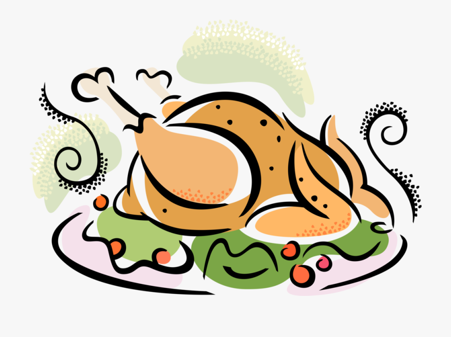 Turkey supper free clipart vector free stock Clipart Turkey Roasted Turkey - Turkey Dinner Clip Art #626684 ... vector free stock