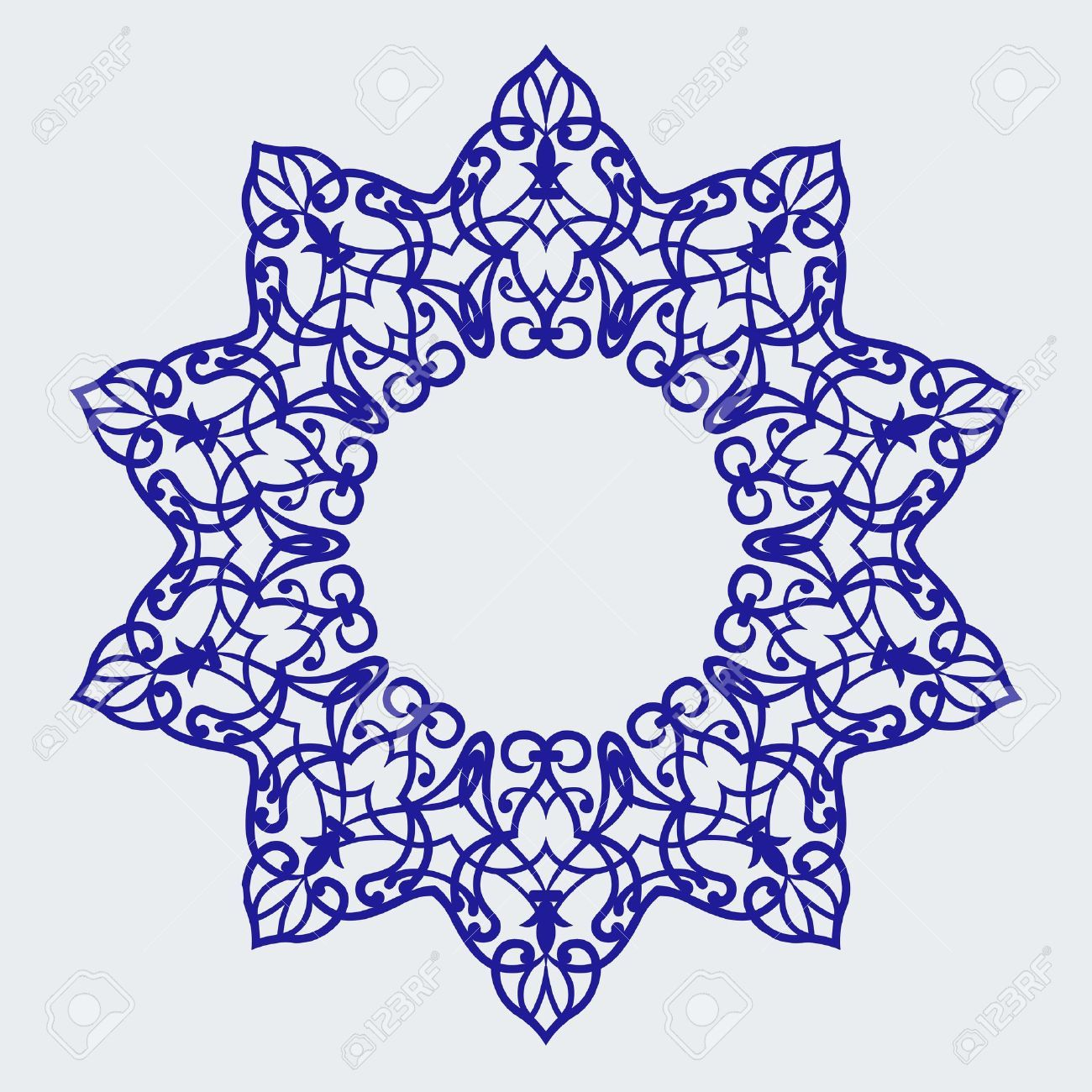 Free clipart turkish tile background black and white jpg Stock Vector | turkey | Persian motifs, Persian, Pattern jpg
