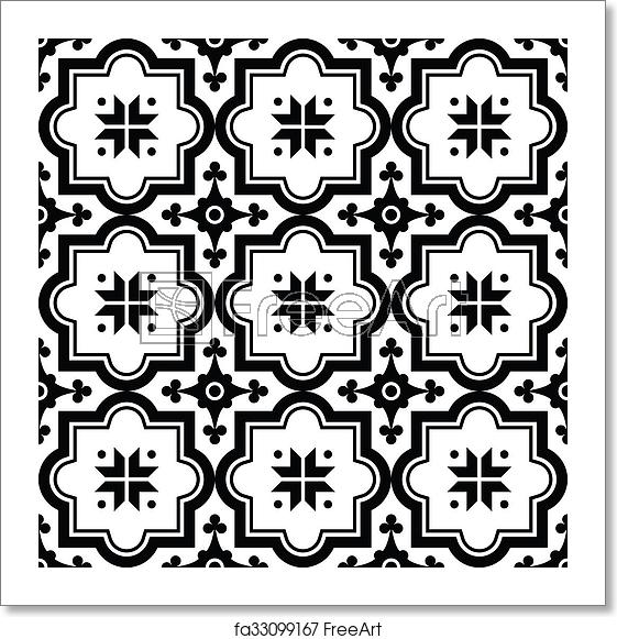 Free clipart turkish tile background black and white picture black and white Free art print of Arabic pattern, Moroccan black tile picture black and white