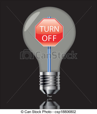 Free clipart turning off lights image Vector Clipart of Turn off the light sign with black - Turn off ... image