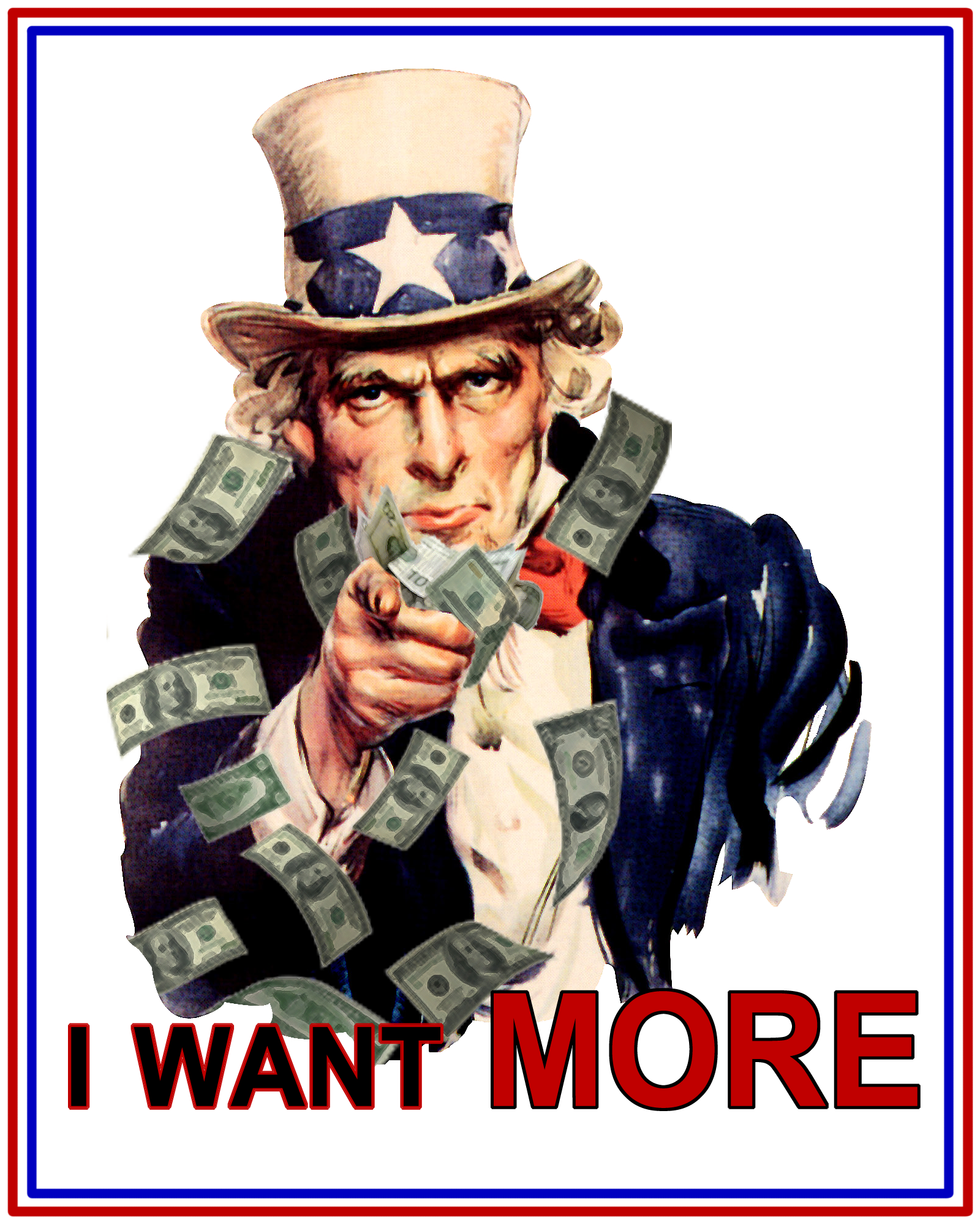 Free clipart uncle sam taking money banner freeuse library I Want MORE <– Uncle Sam | The Graphic Details banner freeuse library