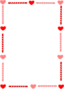 Free clipart valentines borders png black and white library Free Valentine\'s Border Cliparts, Download Free Clip Art, Free Clip ... png black and white library