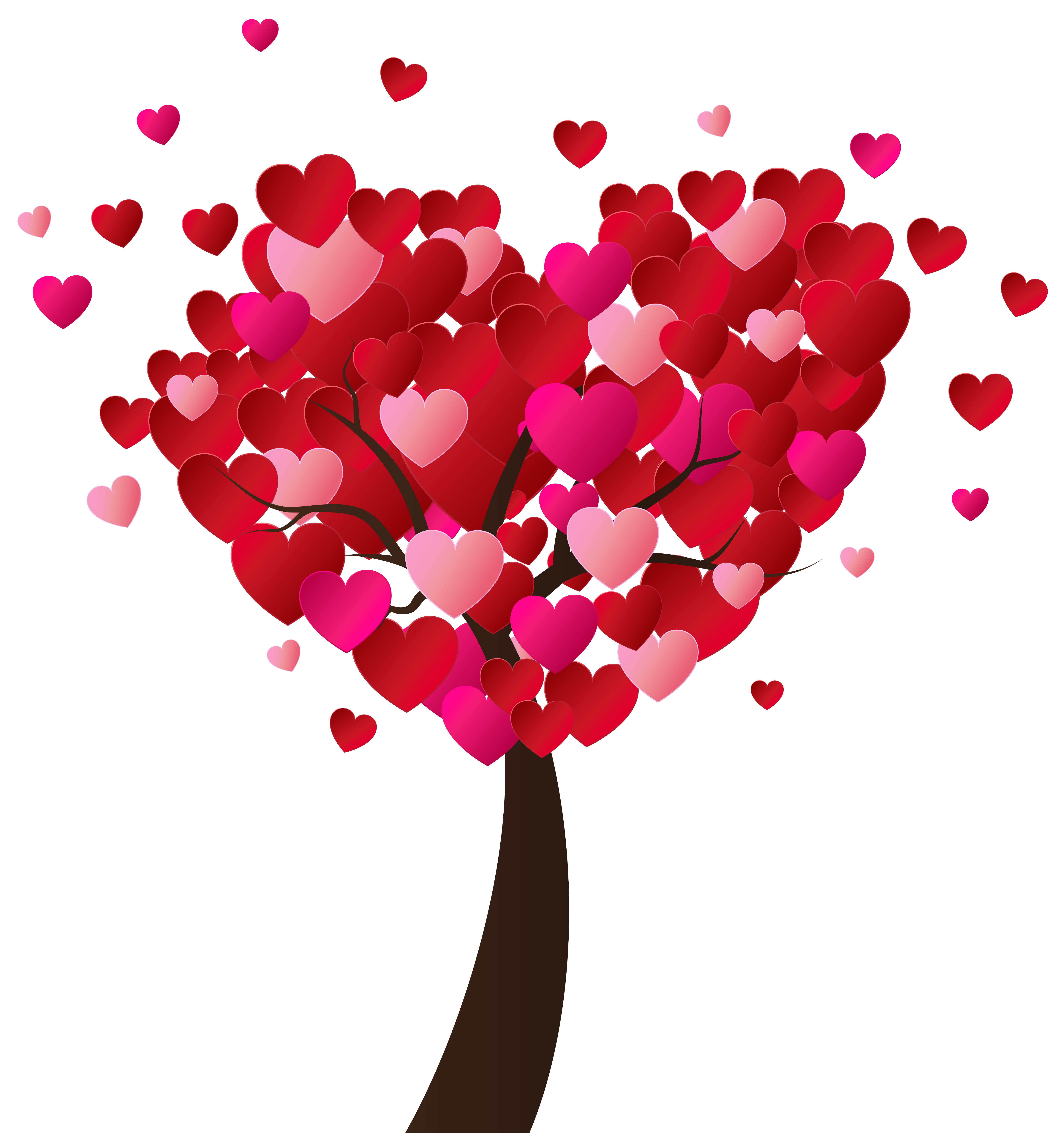 Free clipart valentines day hearts graphic free stock Valentine's Day Heart Tree PNG Clip-Art Image graphic free stock