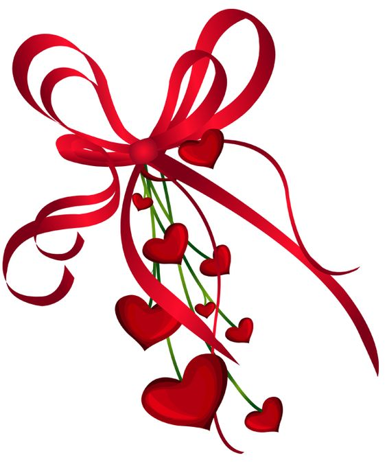 Free clipart valentines day hearts jpg free stock Valentines Day Hearts Decor with Red Bow PNG Clipart | CLIPART ... jpg free stock