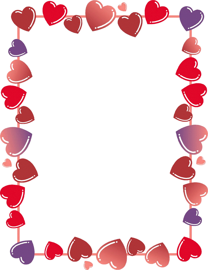 Free clipart valentines hearts graphic black and white Free clip art valentines day heart border - ClipartFest graphic black and white