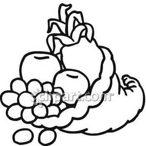 Free clipart veggies black and white clip art freeuse library Fruit And Vegetable Clipart Black And White | Clipart Panda - Free ... clip art freeuse library