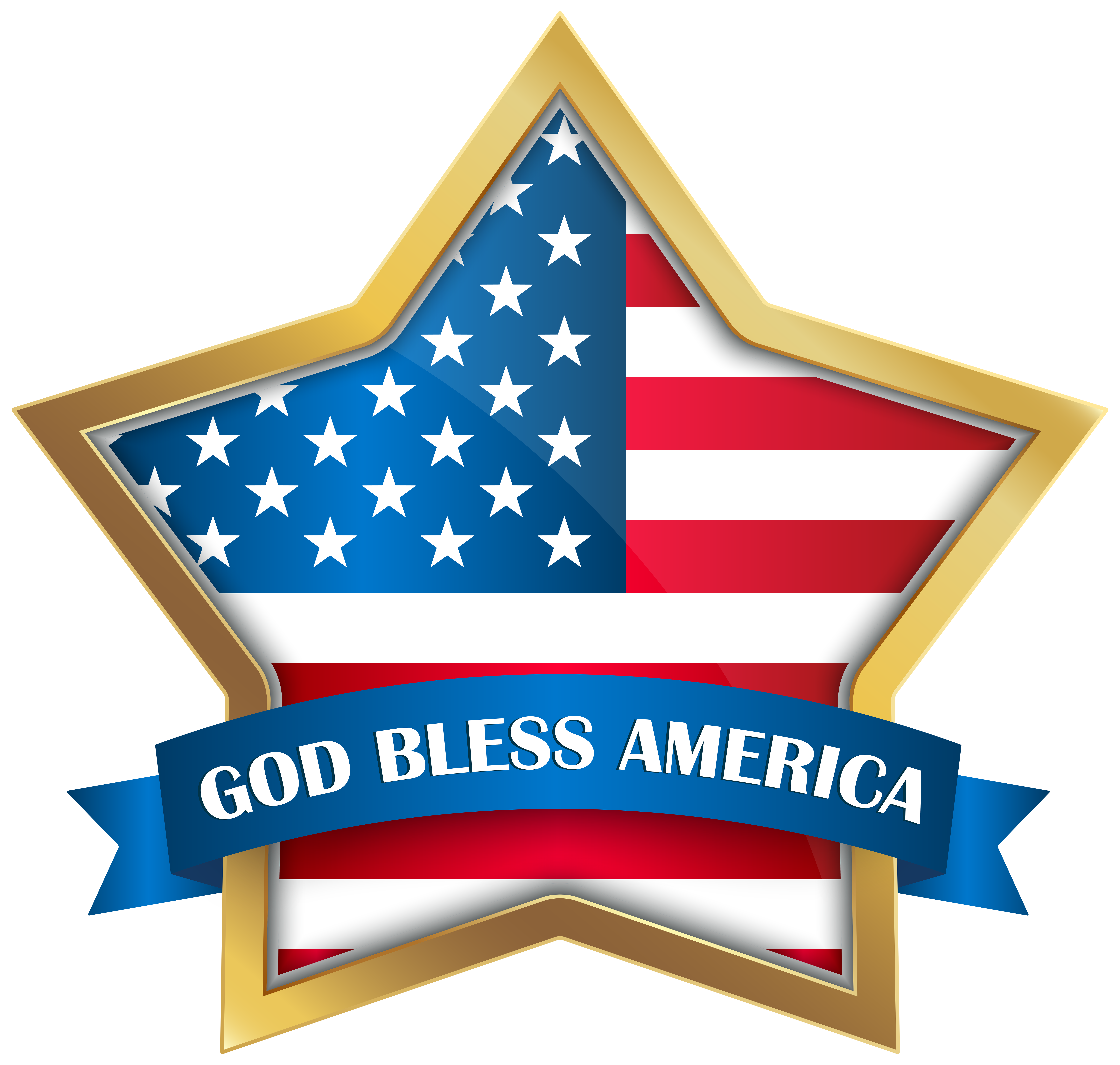 Free star graphics clipart vector transparent God Bless America Star PNG Clip Art Image | Gallery Yopriceville ... vector transparent