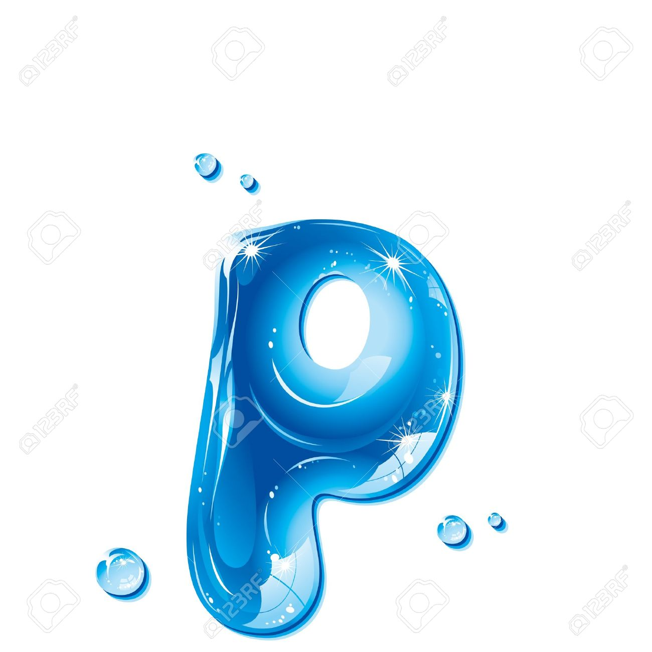 Free clipart water letters picture freeuse download ABC Series - Water Liquid Letter - Small Letter P Royalty Free ... picture freeuse download
