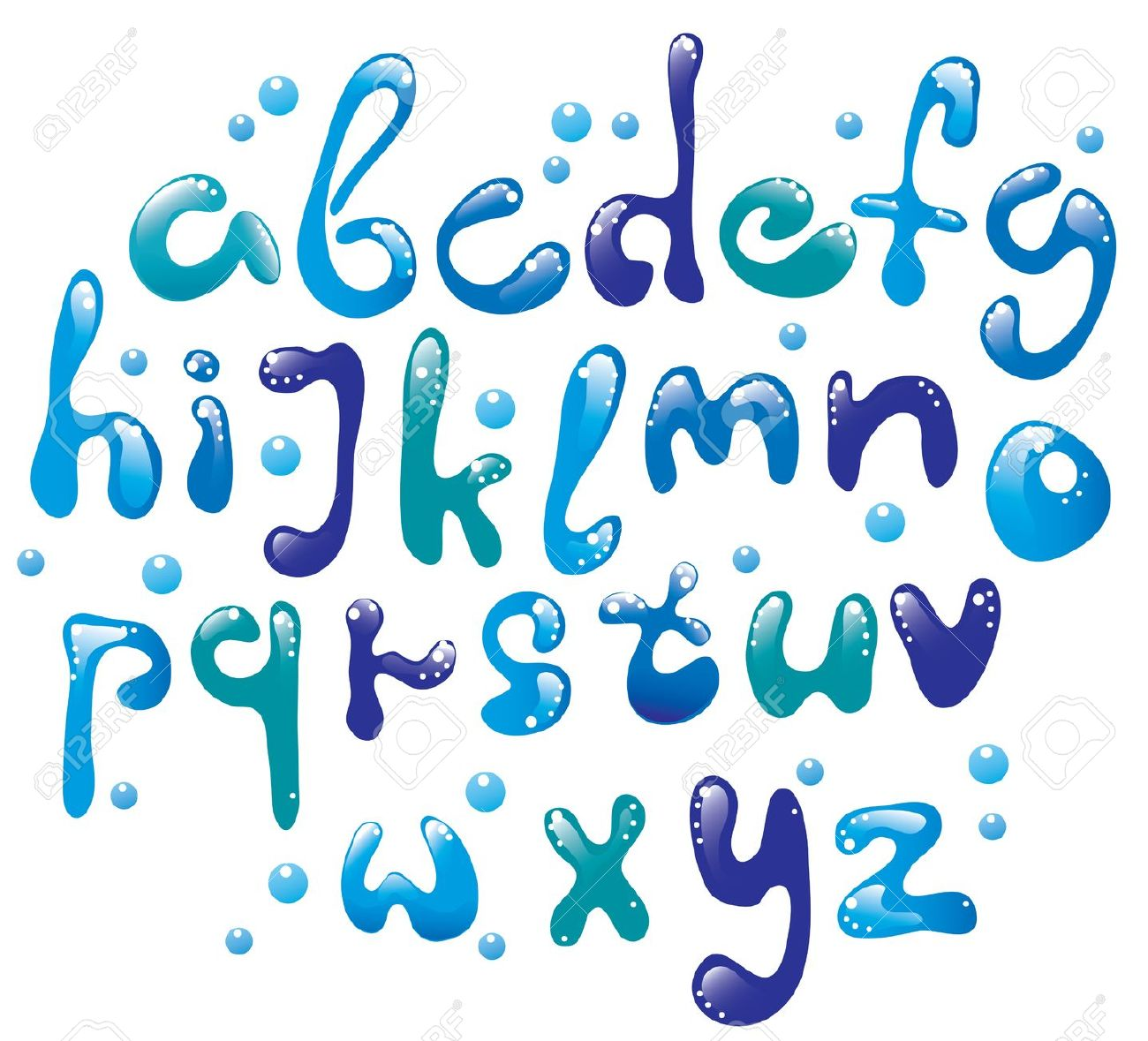 Free clipart water letters