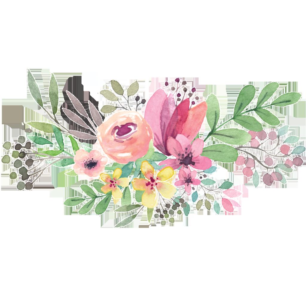 Free clipart watercolor flower clip art transparent download Watercolor Flower Circle Png - peoplepng.com clip art transparent download