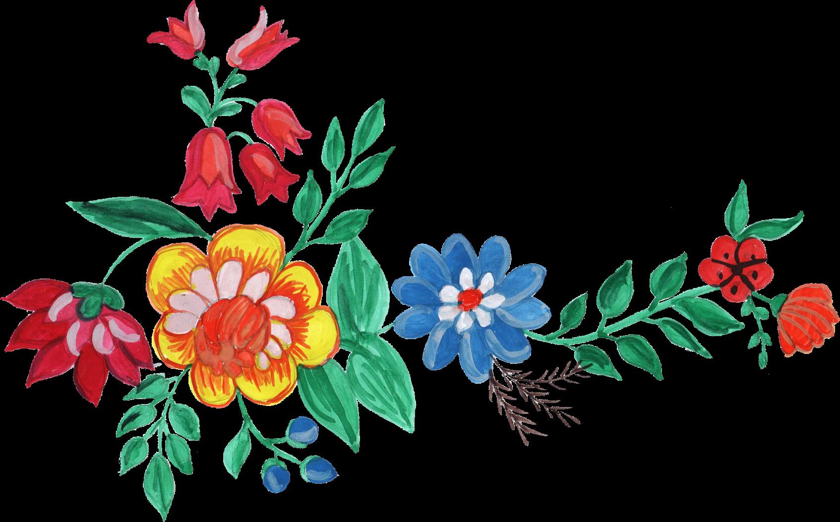 Watercolour flower clipart