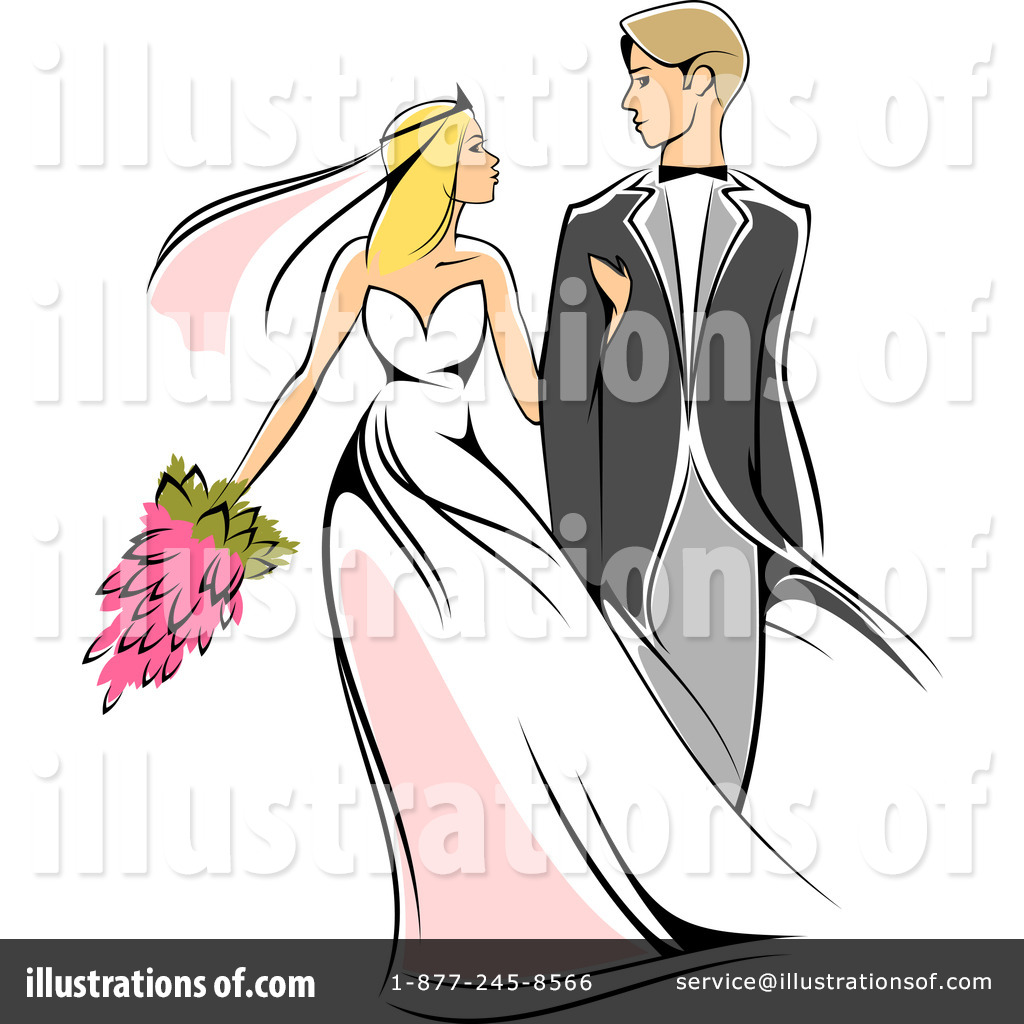Free clipart wedding couple clip royalty free stock Wedding Couple Clipart #1064911 - Illustration by Vector Tradition SM clip royalty free stock