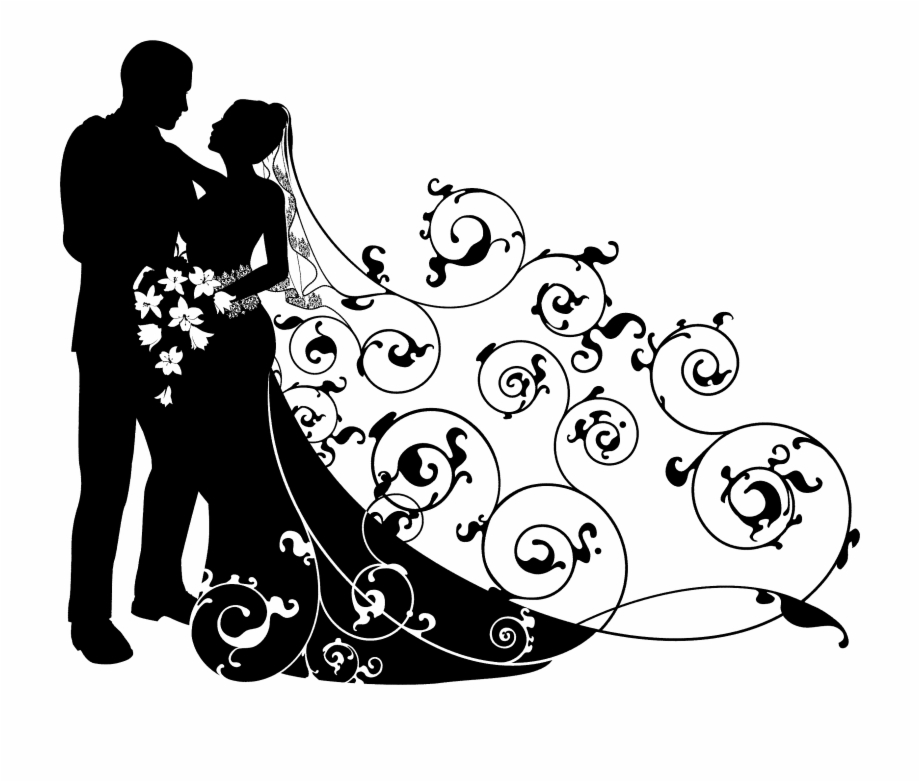 Free clipart wedding couple clip freeuse Wedding Couple Clipart Black And White Free PNG Images & Clipart ... clip freeuse