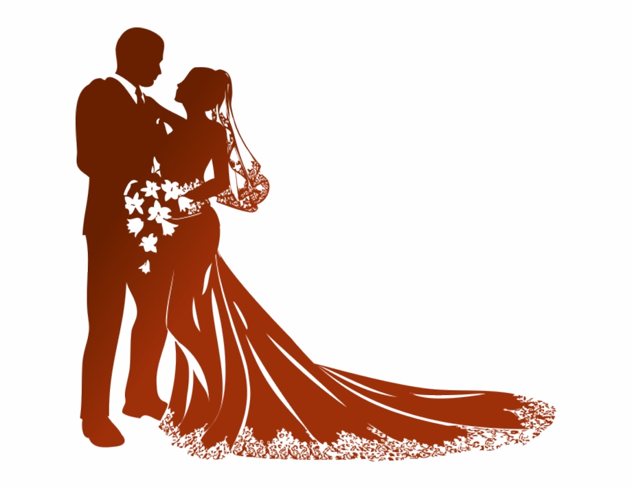 Free clipart wedding couple svg royalty free library Modern Wedding Couple Silhouette Png - Bride And Groom Vector Png ... svg royalty free library