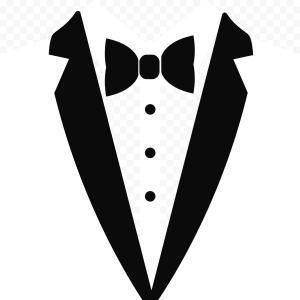 Free clipart white tuxedo. Traje smoking vector necktie
