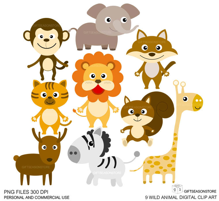 Wild animal clipart images jpg black and white stock 9+ Wild Animals Clipart   ClipartLook jpg black and white stock