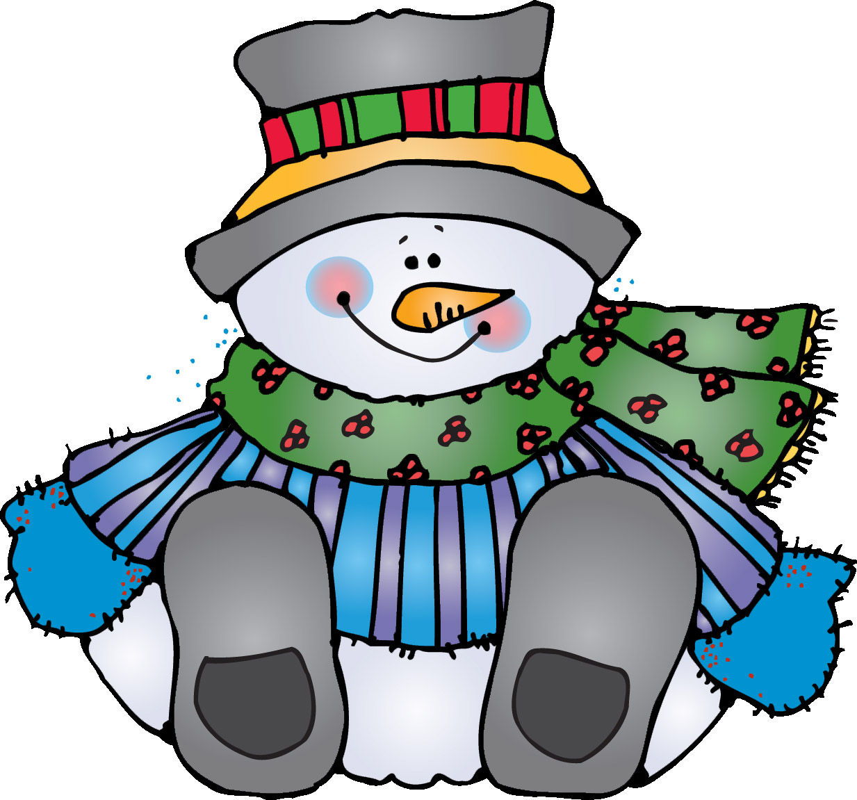 Winter holiday clipart black and white free
