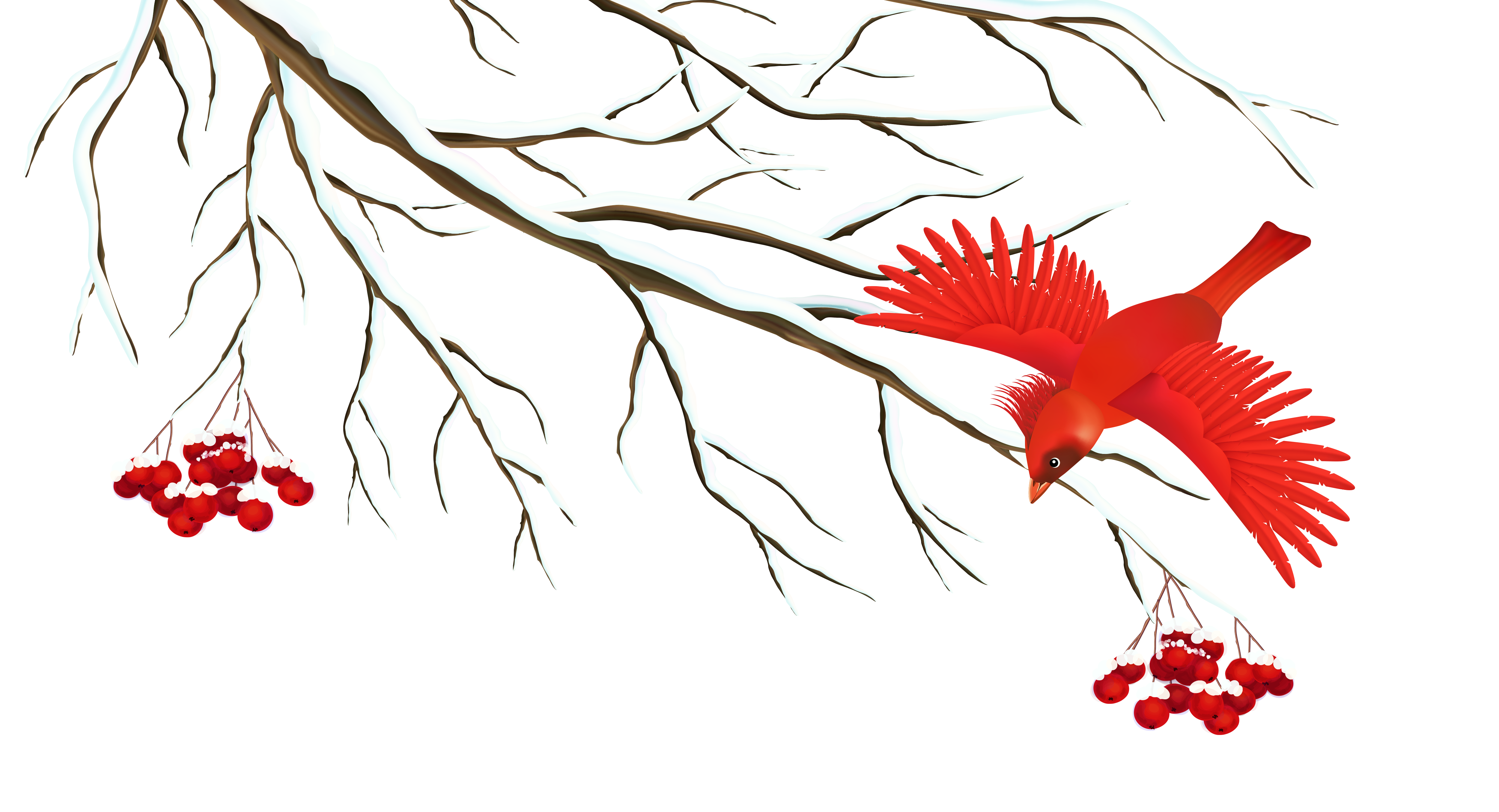 Free clipart winter branch clipart stock Winter Snowy Branch with Bird PNG Clipart Image   Gallery ... clipart stock