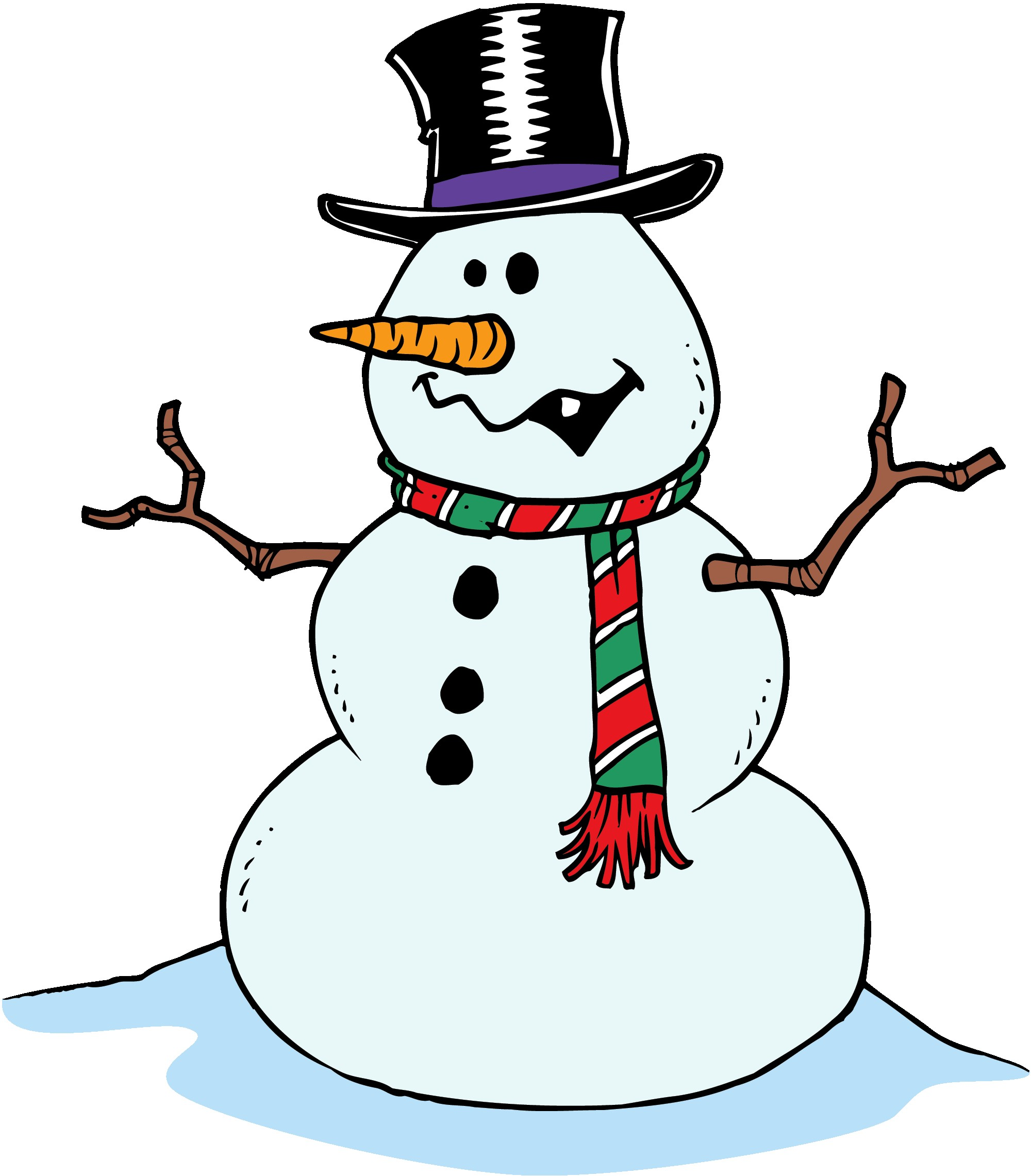 Sad looking snowman clipart black and white graphic transparent library Winter Clipart | Free Download Clip Art | Free Clip Art | on Clipart ... graphic transparent library