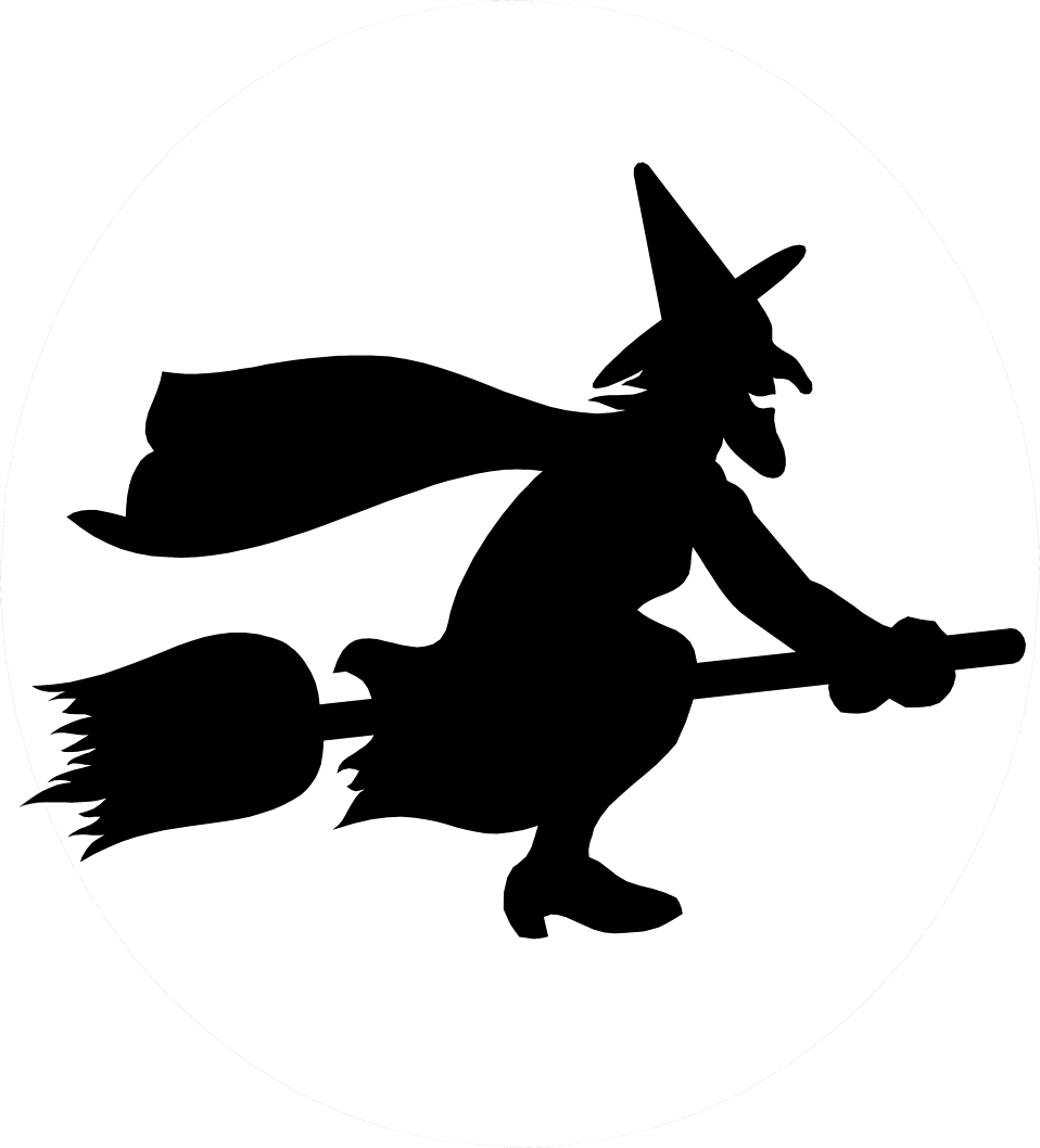 Halloween witch hat clipart black and white picture download Witch | Free Stock Photo | Illustration of a witch flying on a ... picture download