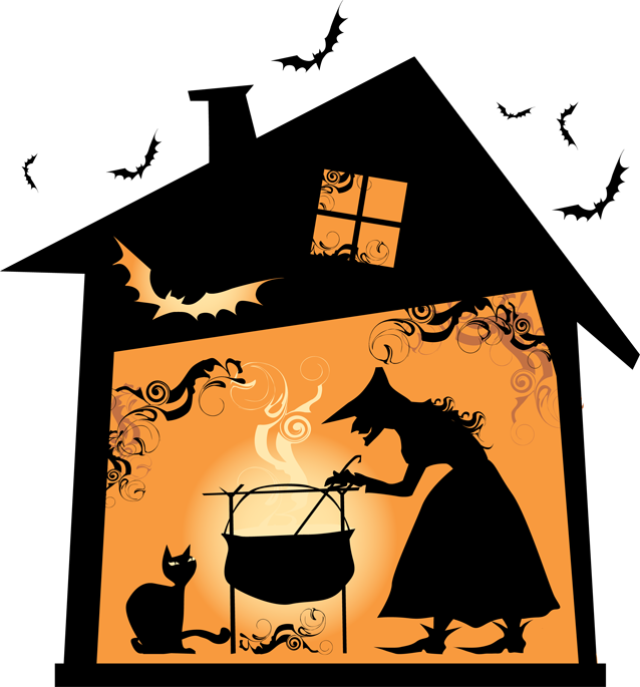 Haunted house witch clipart royalty free library 28+ Collection of Witch House Clipart | High quality, free cliparts ... royalty free library