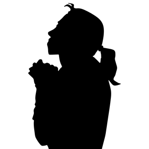 Free clipart woman praying clipart transparent Woman Praying Silhouette 2 clipart, cliparts of Woman Praying ... clipart transparent