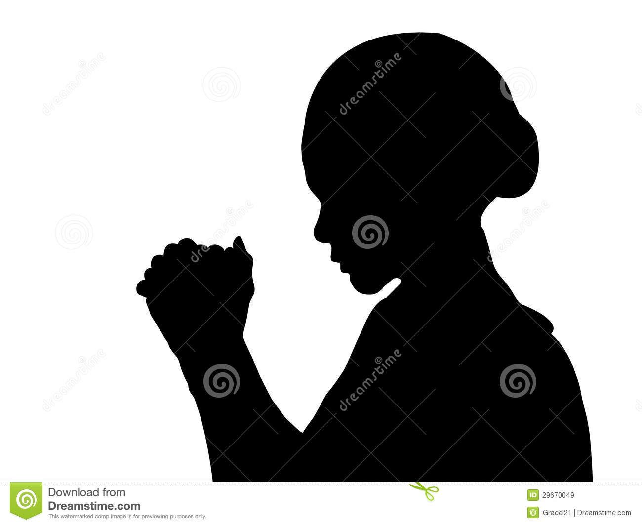 Woman praying clipart free picture library library silhouettes of females in prayer | Royalty Free Stock Images: Woman ... picture library library