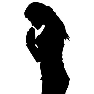 Free clipart woman praying png free library Woman Praying Silhouette clipart, cliparts of Woman Praying ... png free library