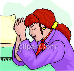 Free clipart woman praying clipart transparent stock A Woman Praying By Her Bedside - Royalty Free Clipart Picture clipart transparent stock