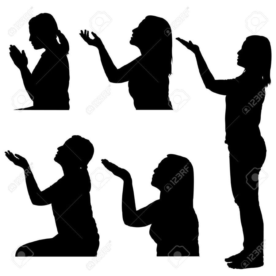 Free clipart woman praying graphic free Download woman praying hands silhouette clipart Praying Hands Clip ... graphic free