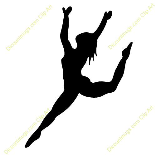 Free clipart women living in the leap. Ribbon dancer silhouette clip