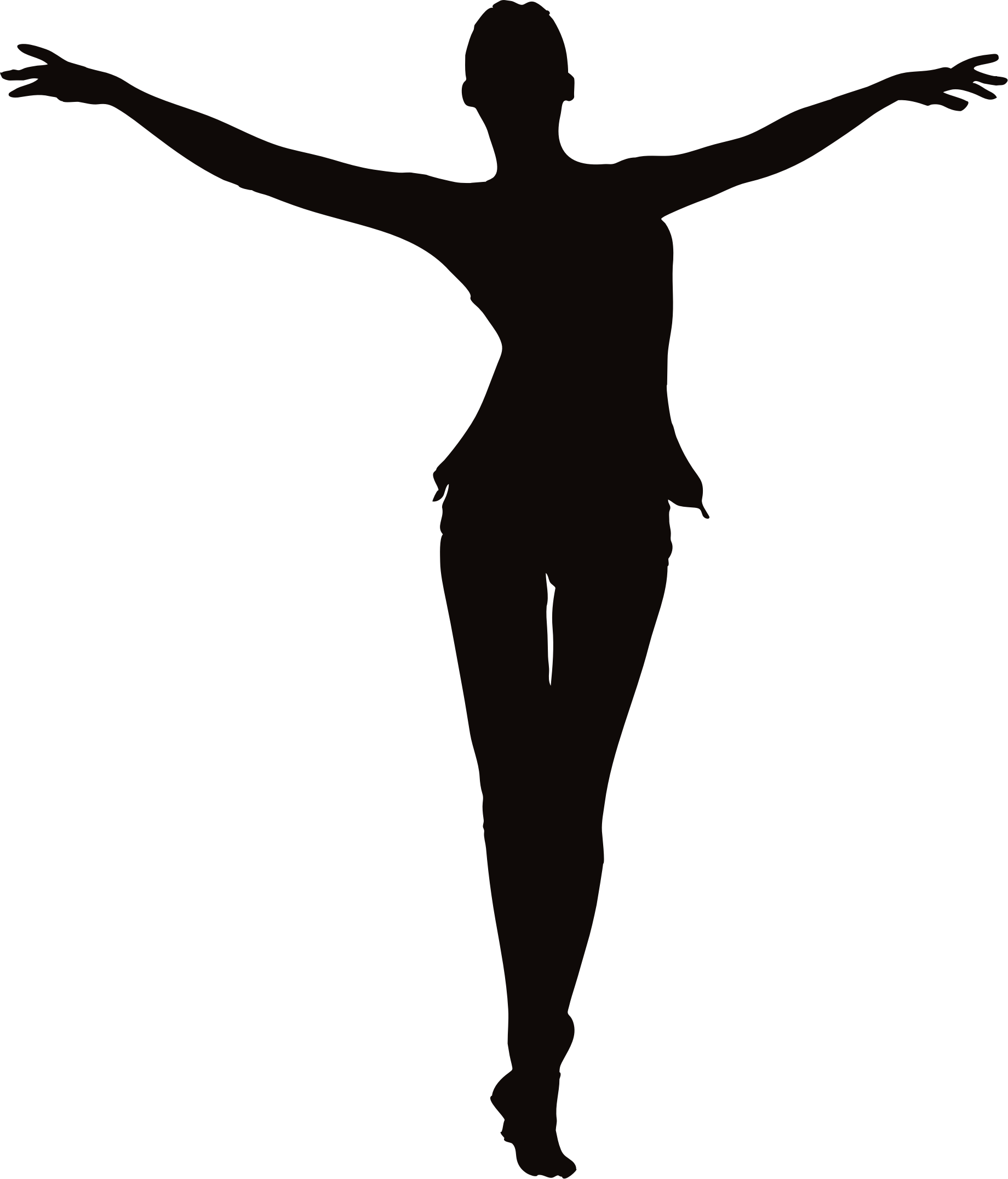 Female figure arms up. Free clipart women living in the leap