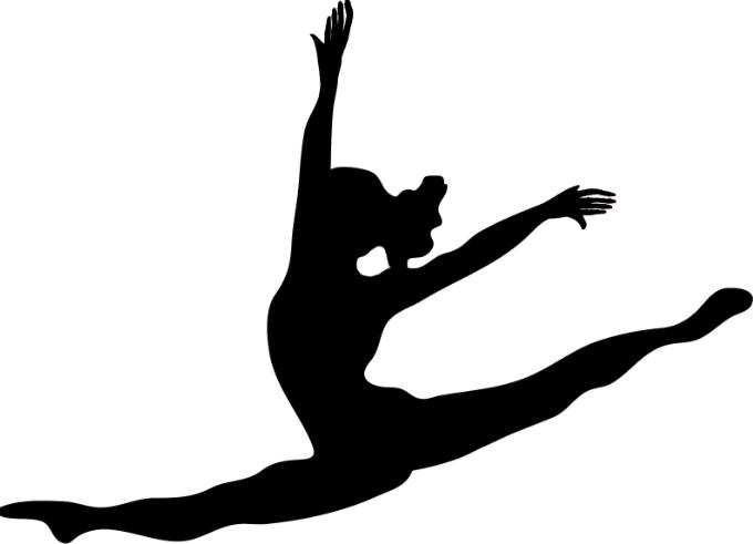 Dancers silhouette cricut dancer. Free clipart women living in the leap