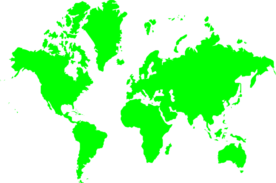 Free clipart world map clip art royalty free Map World | Free Stock Photo | Illustration of a green map of the ... clip art royalty free