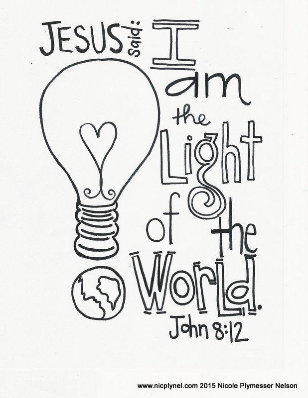 Free clipart you are light of the world. Here coloring pages to