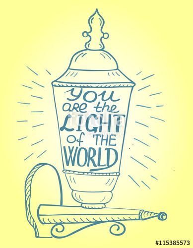 Free clipart you are light of the world. Biblical background is handwritten